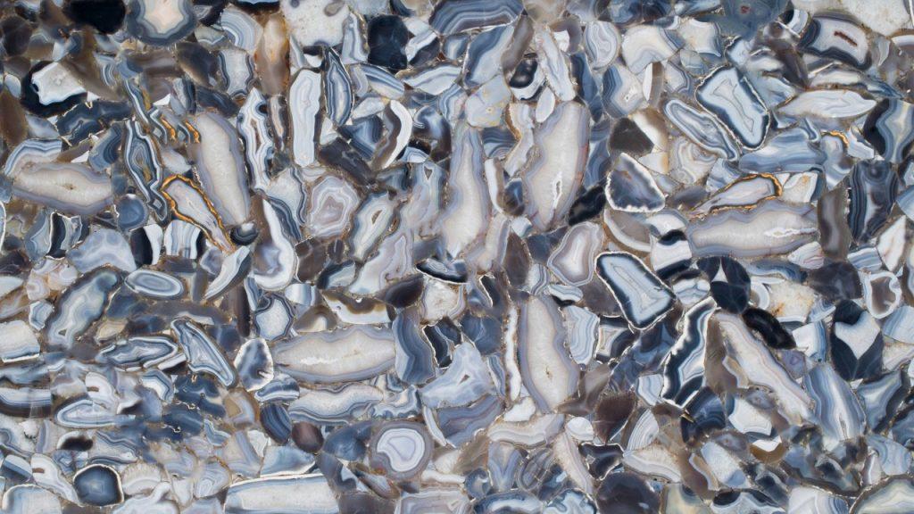 Grey Agate Pedra preciosa