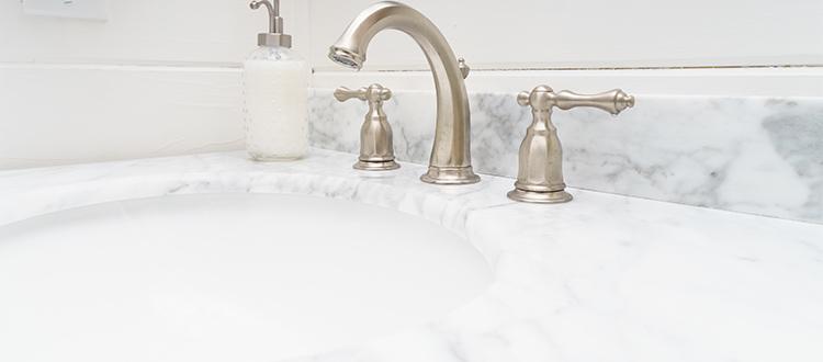 Pia de mármore para banheiro - Marina Mármores